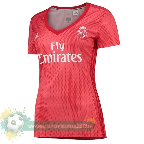 Maillot De Foot Personnalisé Pas Cher adidas Third Maillots Femme Real Madrid 2018-2019 Rouge